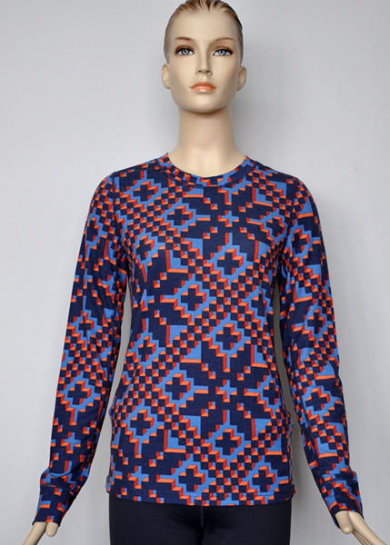 printed merino wool
